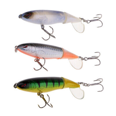 "3 Pieces Whopper Plopper Topwater Prop Lure 3.94"" Bass Fishing Lure"