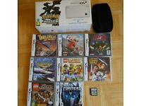 Nintendo DSi Poke White limited edition, with Super Mario Bros + 9 other games