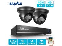 SANNCE CCTV DVR 4CH 5IN1 108P HDMI Outdoor 720P Video Camera Security System UK
