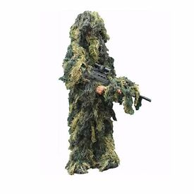 Kombat Kids Ghillie Woodland Camo Suit Army Sniper Style Fancy Dress Airsoft Hunt