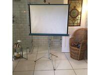 Retro projector screen