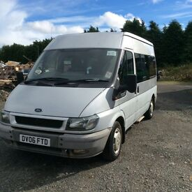 Ford Transit 8 Seat Minibus with Fully automatic Wheelchair lift