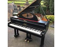 Ibac black baby grand piano double overstrung
