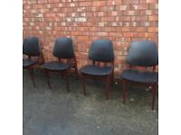 REDUCED mid Century style set of 4 chairs