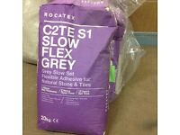 Flex grey ROCATEX s1 slow flex grey adhesive for natural stone and tiles