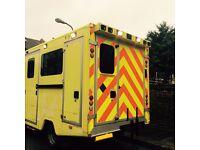 catering horse box portacabin market trailer office box body camper sprinter van fully insulated