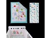 toTs by smarTrike Joy Sateen Owl Bedding Set Comfy Baby Cot Bedding Infant Bed