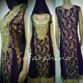 Beautiful Indian Pakistani Anarkali Dress Shalwar KAMEEZ Long DRESS FULL STITCHED
