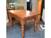 Farmhouse Kitchen Table and 2 chairs