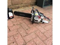 SPEARS & JACKSON PETROL CHAINSAW, USED ONLY A FEW TIMES