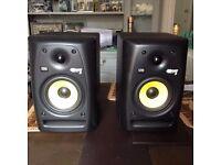 Pair of Rokit 5 speakers plus stands