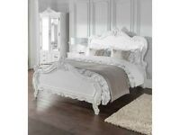Antique French Style/shabby chic King size bed