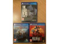 The Last of Us 2 + God of War + Red Redemption 2