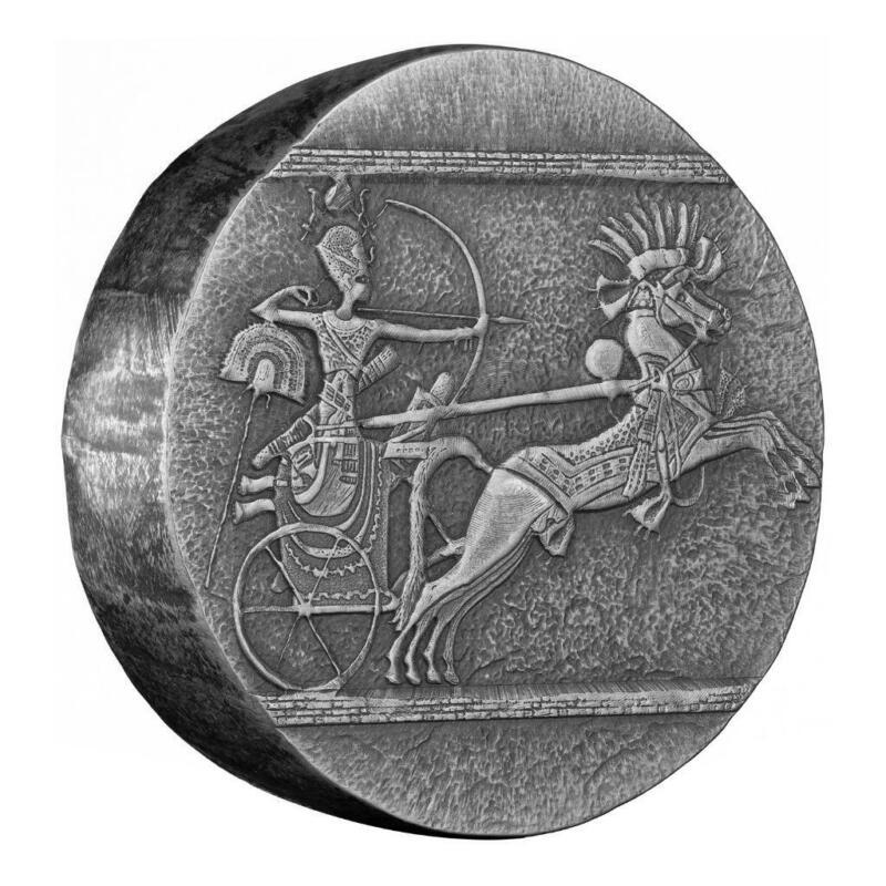 2020 5 oz Egyptian Relic Chariot of War Silver Coin .999 Silver BU #A521