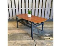 Nathan vintage retro teak coffee table Danish style