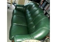 Sofa vintage classic green leather