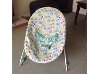 Bright Starts baby bouncer suitable for up to 6 months of age.