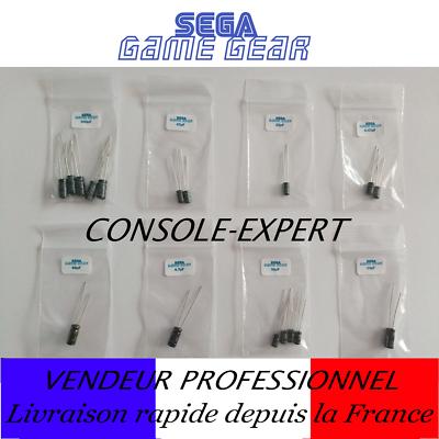 sega game gear : condensateurs cap kit pour la réparation du son et de l'image