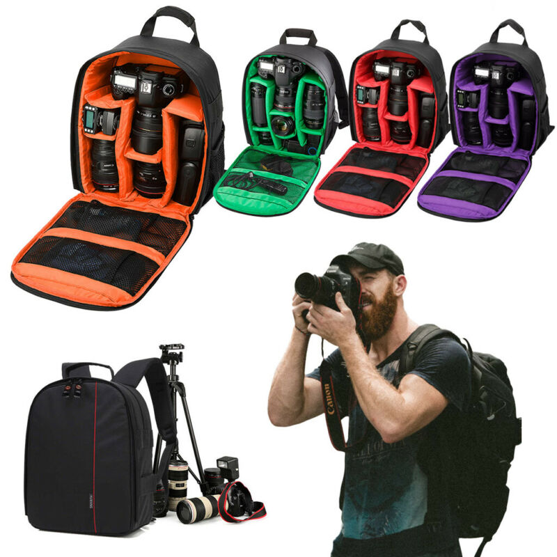 Camera Backpack Bag Fit Canon EOS Sony Nikon DSLR Digital Waterproof Shockproof