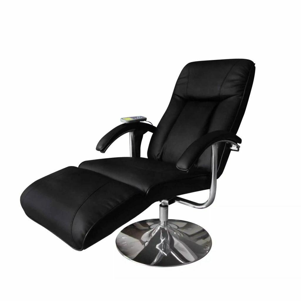 vidaXL Massagesessel Massage Heizung Schwarz Relaxsessel Fernsehsessel Sessel