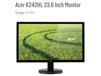 Acer K242HL 24 Inch Monitor (2 for sale)
