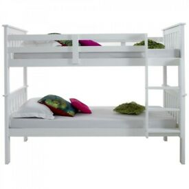 🔥💥🔥SUPERB QUALITY GUARANTEED🔥BRAND NEW 3FT ATLANTIS WHITE WOODEN CONVERTIBLE BUNK BED & MATTRESS