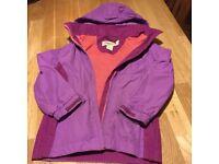 Girls waterproof regatta jacket (age 3-4)