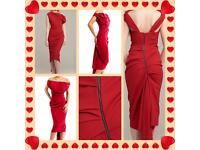 Stunning Red Kevan Jon Sian Dress