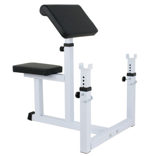 Arm Curl Weight Bench Adjustable Commercial Preacher Seated Dumbbell Benches