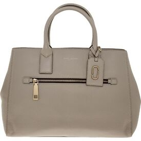 NEW authentic Marc Jacobs grey grained tote bag