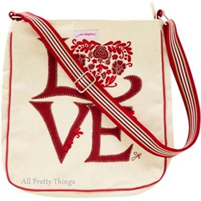 RRP £40- JAN CONSTANTINE Designer LOVE PRINT Messenger Bag ULSTER WEAVERS