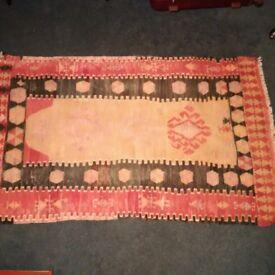 small vintage hand-woven rug