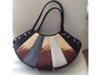 Unique Thai silk crescent handbag
