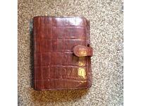Genuine leather Mulberry Filofax diary