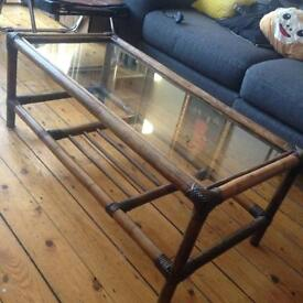 Bamboo cane coffee table £15