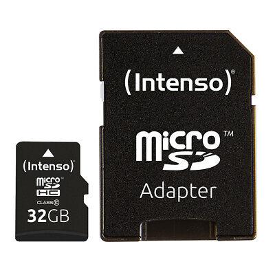 kQ Intenso microSDHC Karte 32GB Class 10 Speicherkarte mit SD Adapter 32 GB