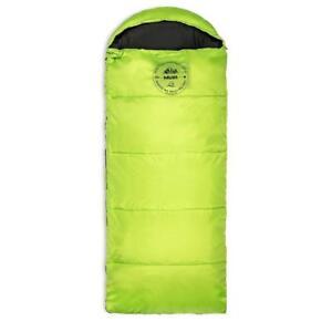 NEW Lucky Bums Kid's Muir Sleeping Bag, 64-Inch, Green