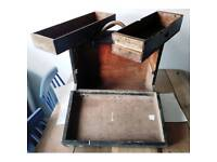 Vintage engineer's wooden tool box / chest / cabinet