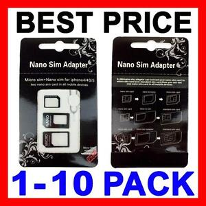iphone 4 sim card size sim card adapter nano micro standard size converter tray 17338