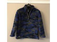 Boys Joules zip up neck fleece