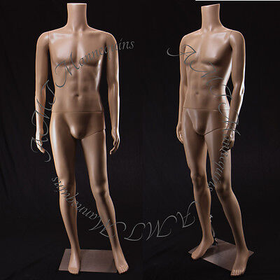 Male Mannequin Metal Stand 5ft 9 Full Body Plastic Headless Manikin-mb-2f