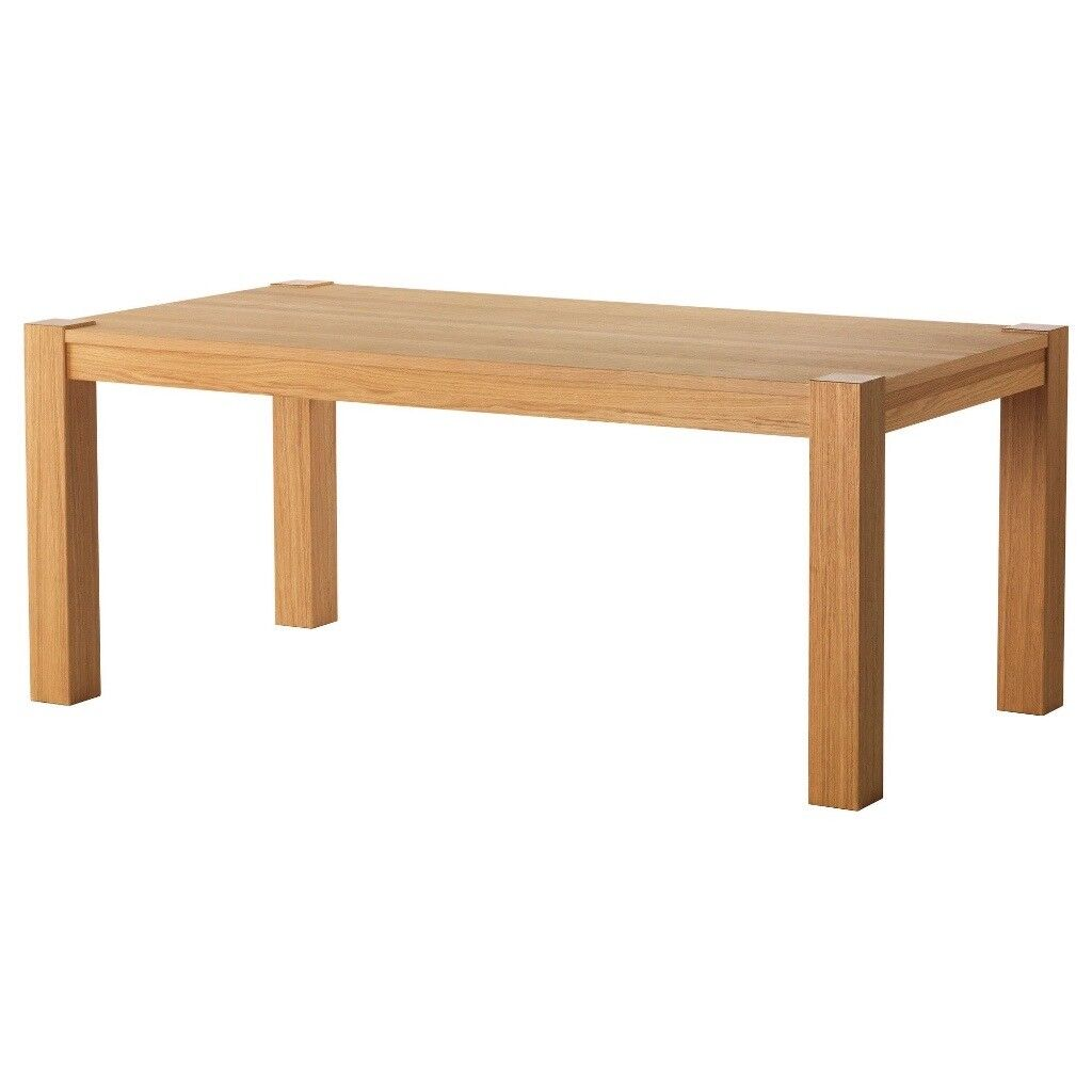 Ikea Kitchen Tables: HOGSBY Ikea Contemporary Oak Dining Table