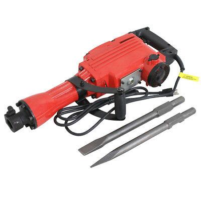 2200w Electric Demolition Jack Hammer Concrete Breaker W 2 Chisel 2 Punch Bit