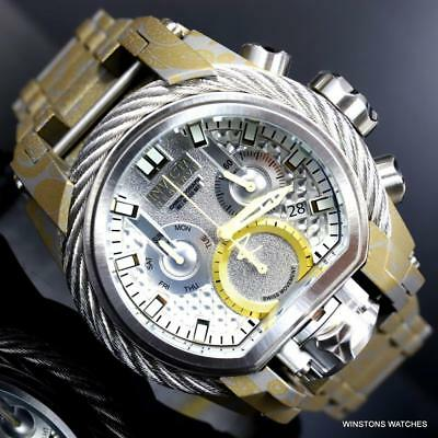 Invicta Reserve Bolt Zeus Magnum Hydroplated Steel 52mm Swiss Mvt Watch New