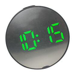 LED Digital Alarm Clock Battery Operated Only Small for Bedroom/Wall D