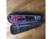 three quarters pink violin