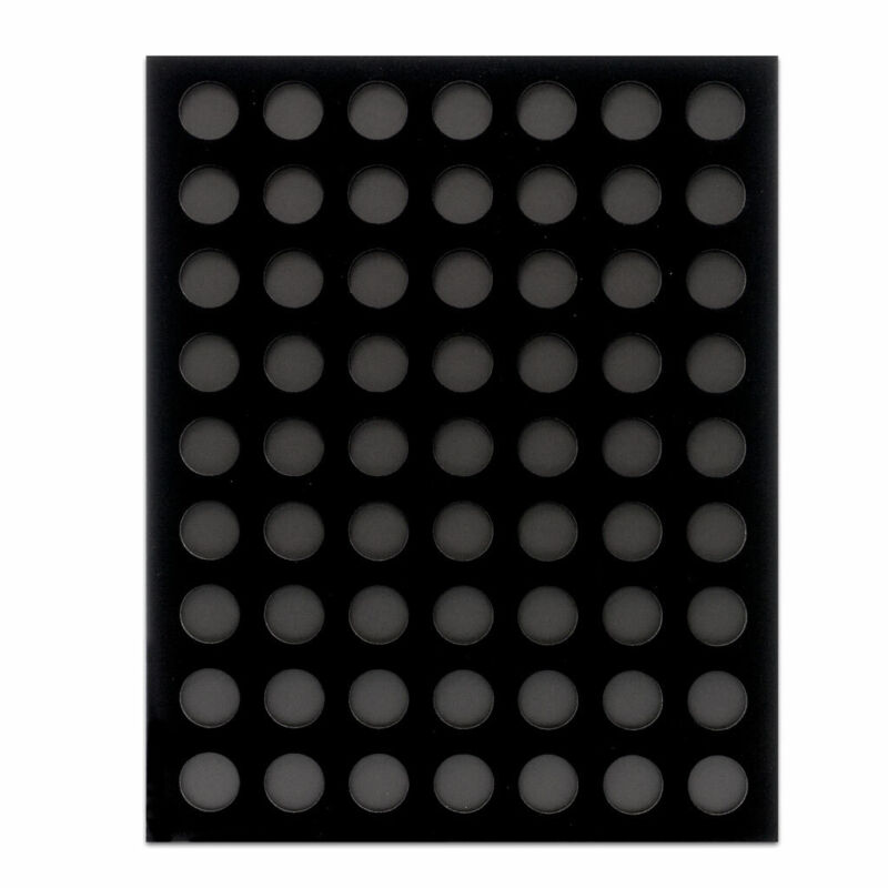 Black Velvet 63 Poker Chip Display Boards
