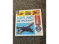 Look read learn kids learning book about airplanes