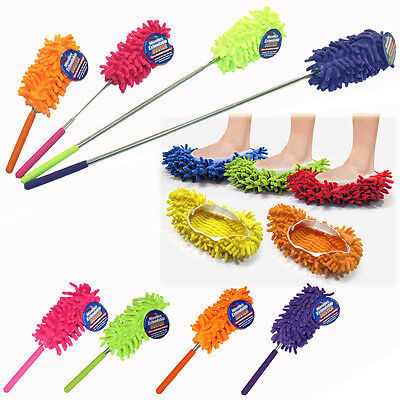 Microfiber Telescopic Duster or Slippers Mop
