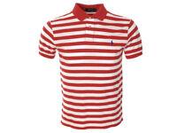 Polo Ralph Lauren Mens Short Sleeve Striped Mesh Top Tee T-shirt TW21